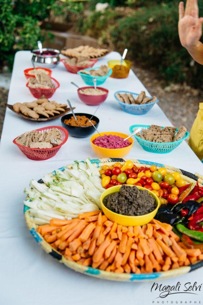 Repas végétarien mariage