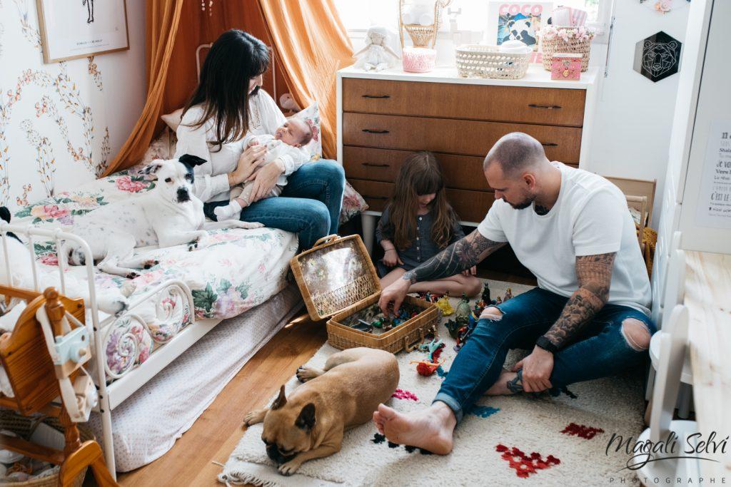 Reportage photo lifestyle naissance Alpes maritimes