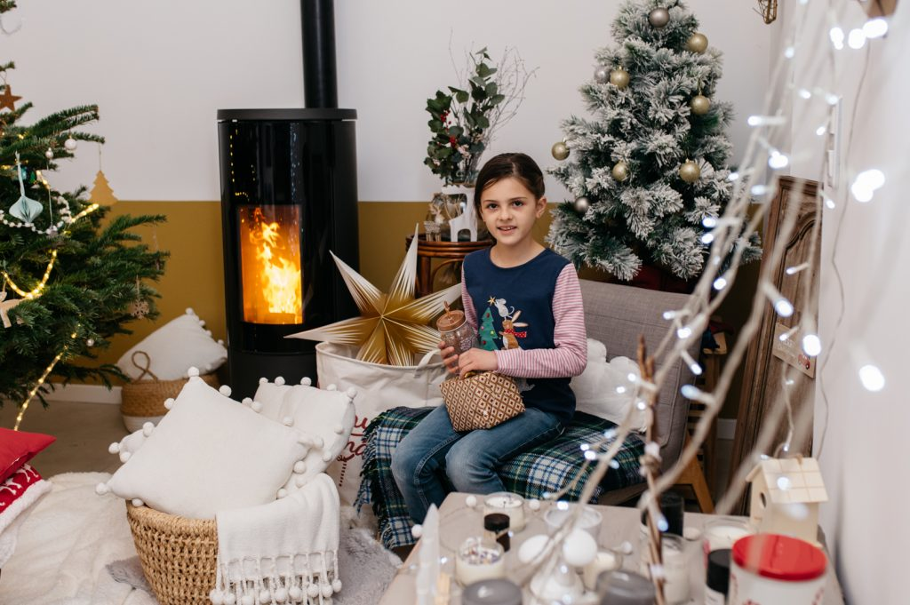 Photo de Noël enfant alpes maritimes