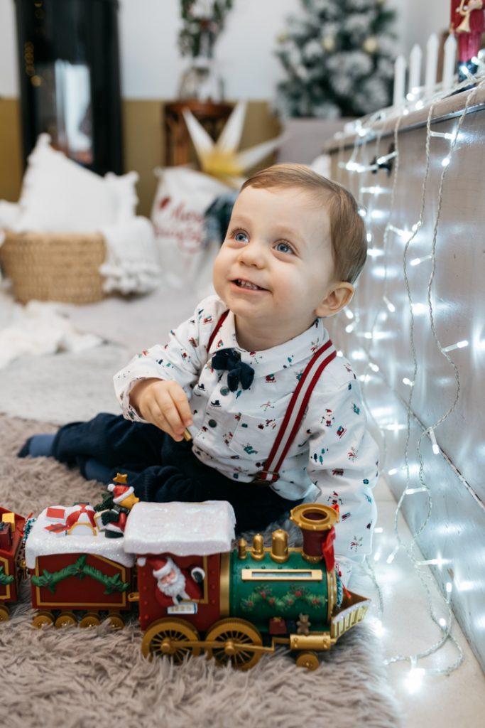 Photo de Noël enfant alpes maritimes